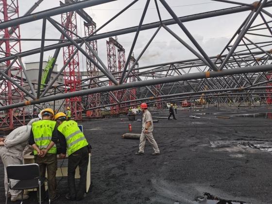 2020年8月包头钢铁(集团)有限责任公司干煤棚网架提升