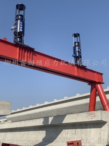 2019年12月23日, 南京梁场施工项目部提升,采用了我公司数控提升泵站、控制系统、数控提升千斤顶。