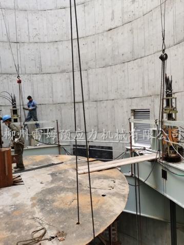2020年5月22日,河南省滑县烟囱钢内筒提升 ,采用了我公司数控提升泵站、控制系统、数控提升千斤顶。
