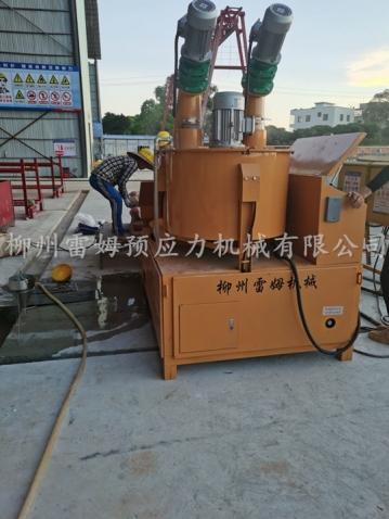 2020年7月29日,广东省吴川市华利建筑劳务有限公司广东茂名市高速扩建,采用了我公司LMCJS自动上料大循环智能压浆机。